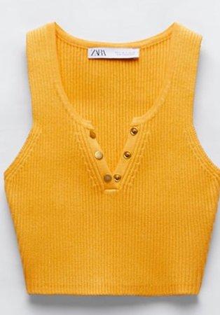 Zara cropped sweater orange crop top
