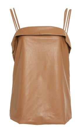 Coco Organic Vegan Leather Camisole Dress by Deitas | Moda Operandi