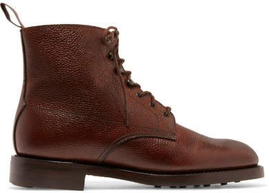 James Purdey & Sons - Textured-leather Ankle Boots - Brown