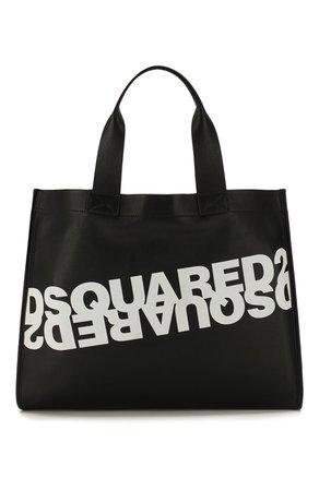Женская черная сумка-шопер mirrored logo DSQUARED2 — купить за 41150 руб. в интернет-магазине ЦУМ, арт. SPW0022 01501675