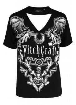 Restyle Squad Goals Cold Shoulder Gothic T-Shirt | Attitude Clothing