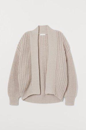 H&M Light Taupe Rib Knit Cardigan