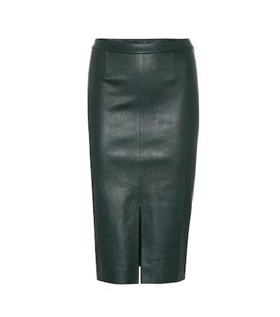 Exclusive to Mytheresa – Carmen leather midi skirt
