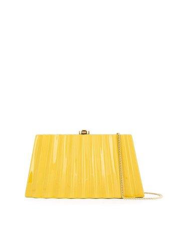 Brown & black Rocio Camille wavy clutch bag CAMILLEBLACKREAR155443 - Farfetch