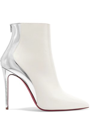 Christian Louboutin | Delicotte 100 smooth and mirrored-leather ankle boots | NET-A-PORTER.COM