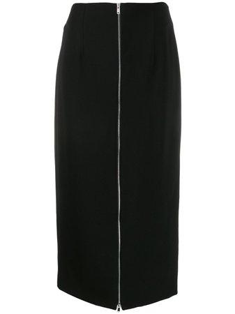 Theory Long Zipped Pencil Skirt J1109302 Black | Farfetch