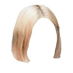 short blonde hair png