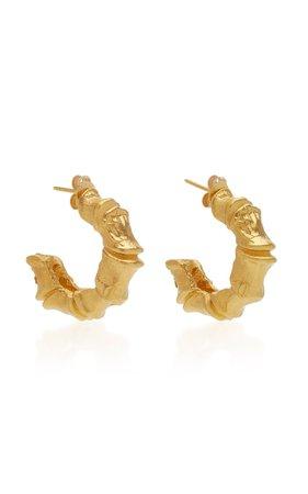 Selva Oscura 24K Gold-Plated Hoop Earrings by Alighieri | Moda Operandi