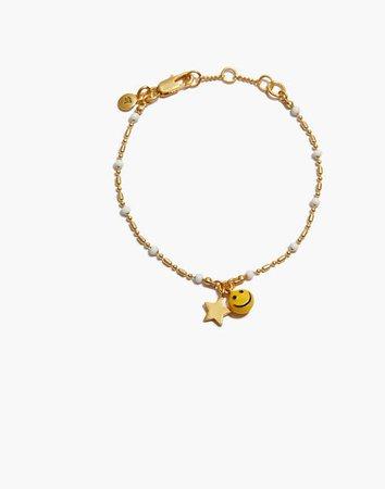 Smiley Face Chain Bracelet
