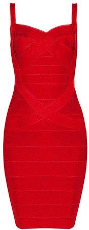 Amazon.com: Bqueen Women's Spaghetti Strap Sexy Bodycon Bandage Dress BQ1636-1 (L, Red): Clothing