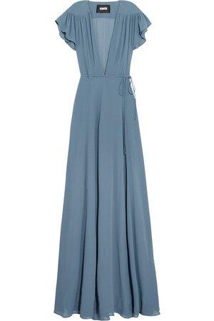 Reformation   Georgette wrap maxi dress   NET-A-PORTER.COM