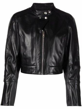 Givenchy Cropped polished-finish Jacket - Farfetch