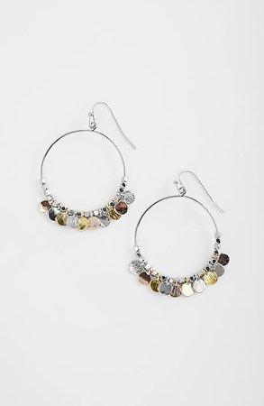 Tri-Tone Hoop Earrings | JJill