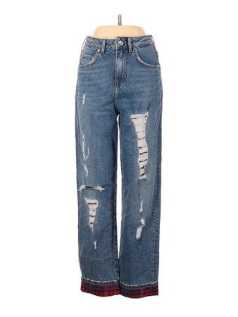 Gigi Hadid X Tommy Hilfiger Solid Blue Jeans 26 Waist - 74% off | thredUP
