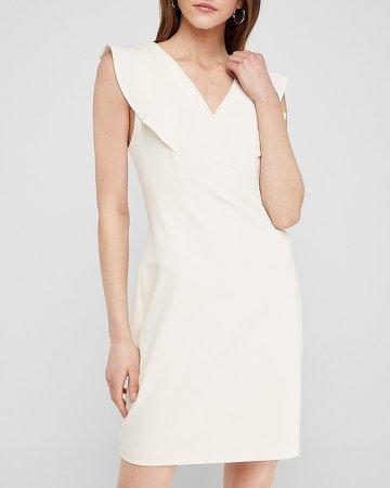 Ruffle Sleeve Sheath Dress