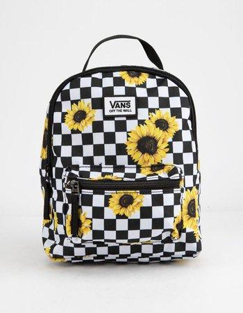 VANS Sunflower Check Mini Backpack - BLKWH - TBD-SMU | Tillys