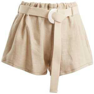 ALBUS LUMEN Fishermans linen shorts