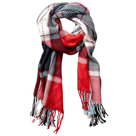 Kendall Fall Plaid Scarf - Red – Tickled Pink