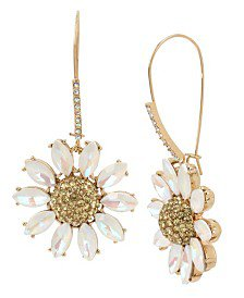 Betsey Johnson Summer Picnic Gingham Flower Drop Earrings & Reviews - Fashion Jewelry - Jewelry & Watches - Macy's