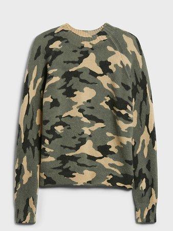 Aire Camo Sweater | Banana Republic