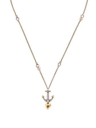Gucci anchor heart pendant necklace - FARFETCH