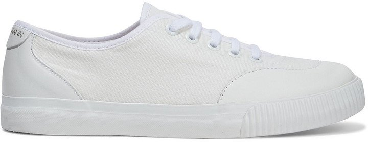Leather-trimmed Cotton-canvas Sneakers