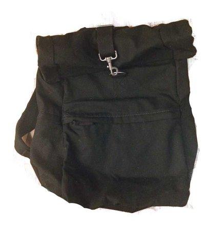 black rolltop ikea backpack