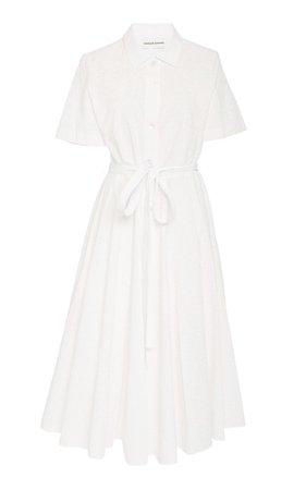 Belted Cotton Poplin Shirt Dress by Mansur Gavriel   Moda Operandi