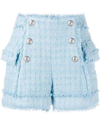 Balmain Tweed Shorts - Farfetch
