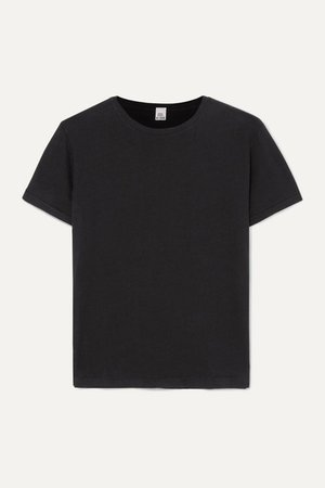 Classic Cotton-jersey T-shirt - Black