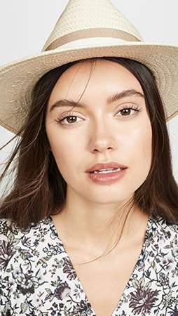 Madewell Classic Flat Brim Straw Hat with Ribbon | SHOPBOP