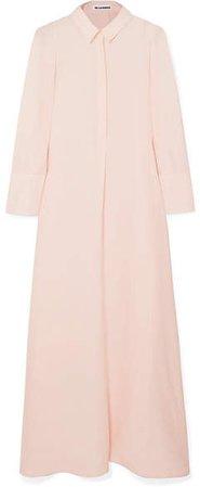 Twill Maxi Dress - Pink