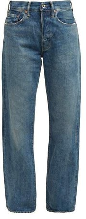 Loose Leg Selvedge Denim Jeans - Womens - Denim