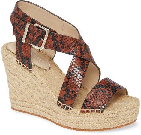 Olivia Espadrille Wedge Platform Sandal