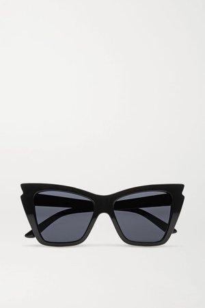 Black Rapture cat-eye acetate sunglasses | Le Specs | NET-A-PORTER