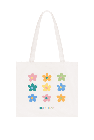 With Jéan Tote Bag | Flowers