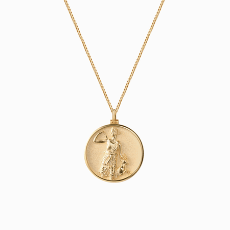 Goddess Coin Necklaces Artemis | Gold Coin Pendants | AWE Inspired – Awe Inspired