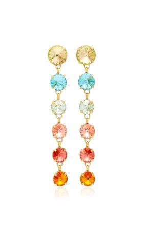 Technicolor Rainbow Drop Earrings by Roxanne Assoulin | Moda Operandi