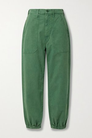 The Wrapper High-rise Tapered Jeans - Green