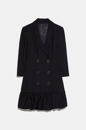 PLEATED BLAZER DRESS | ZARA United States black