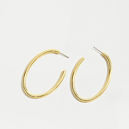 J.Crew: Large Gold Hoop Earrings