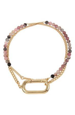 ALLSAINTS Beaded Double Wrap Bracelet | Nordstrom