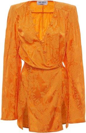Attico Double Slit Mini Dress