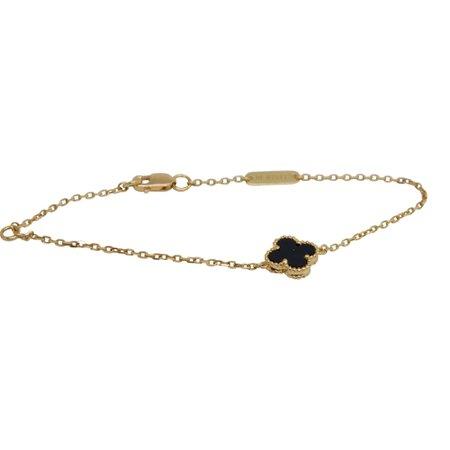 Van Cleef & Arpels Sweet Alhambra Bracelet with Black Onyx – Oliver Jewellery