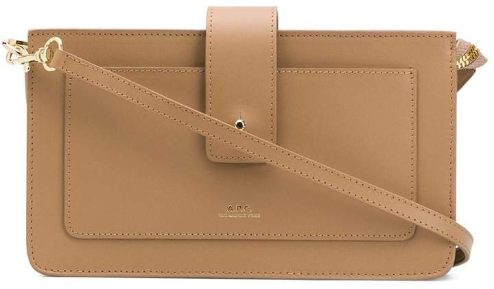 Albane leather crossbody bag