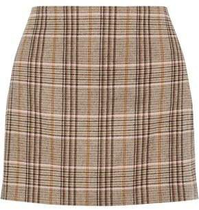 Elana Checked Woven Mini Skirt