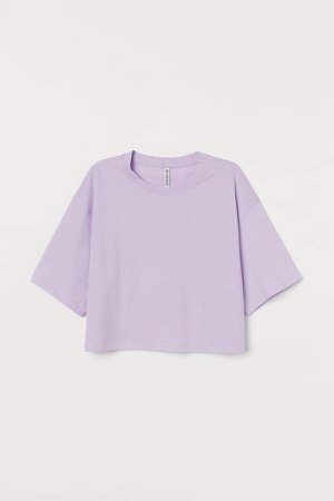 Cropped T-shirt - Purple