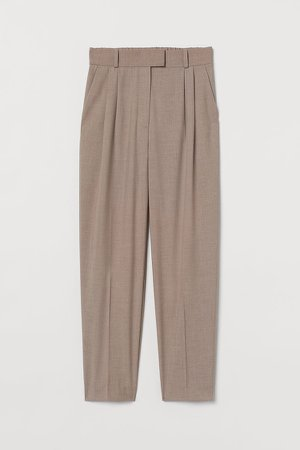 Creased Pants - Beige