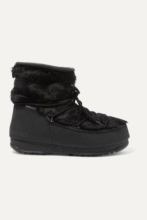 Monaco Rubber And Faux Fur Snow Boots - Black