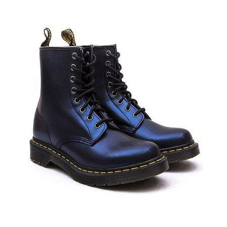 Doctor Marten Tracer Metallic Blue Leather Boots